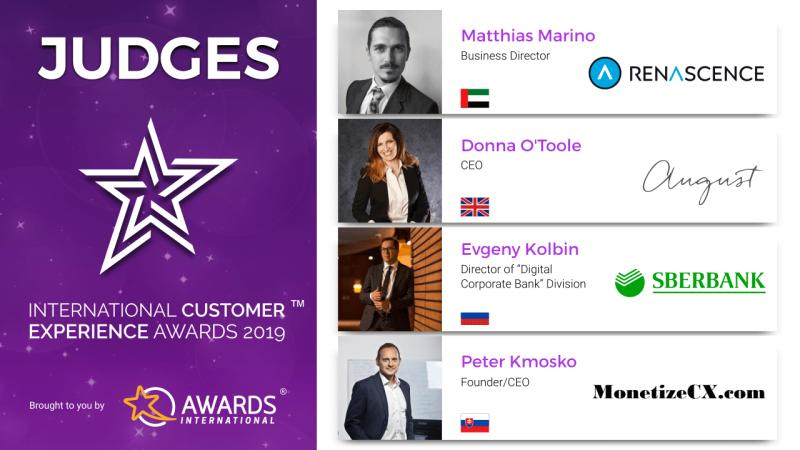 International Customer Experience Awards, International Customer Experience Awards winners 2019, Business Awards, Customer Experience Awards, Awards International, business awards, August The Awards Consultancy, Donna O'Toole, Awards Judge, Awards Expert